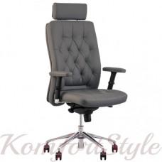 Chester R HR steel chrome (Честер) кресло руководителя с подголовником