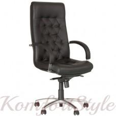 Fidel (Фидель) steel chrome офисное кресло руководителя
