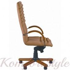 Galaxy wood chrome (Гелакси вуд) компьютерное кресло с инкрустацией деревом