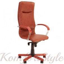 Nova wood (Нова вуд) компьютерное кресло с инкрустацией деревом