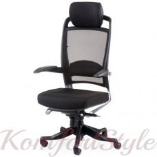Кресло руководителя FULKRUM BLACK FABRIC, BLACK MESH
