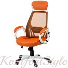Кресло офисное Briz orange/white