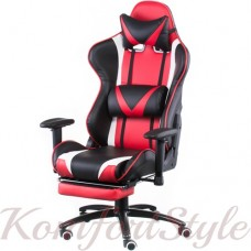 Геймерское кресло ExtremeRace black/red with footrest