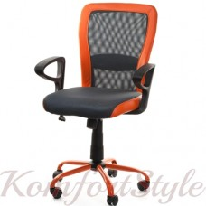 Кресло офисное LENO, Grey-Orange