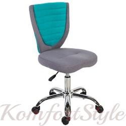 Детское кресло POPPY, серо-голубое