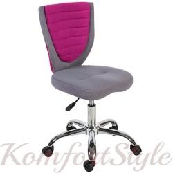 Детское кресло POPPY, Grey /Pink
