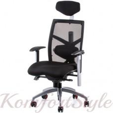 Кресло  руководителя  EXACT BLACK FABRIC, BLACK MESH