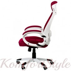 Кресло  руководителя  Briz red/white