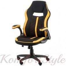 Геймерское кресло Prime black/yellow