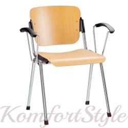 ERA arm wood (Эра арм вуд)офисный стул деревянный для посетителей с подлокотниками