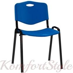 ISO black plast (Исо черный пласт) офисный стул для посетителей с пластмассовой спинкой и сидением
