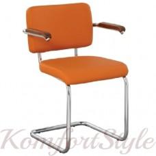 Sylwia lux arm chrome (Сильвия люкс арм) стул офисный для посетителей